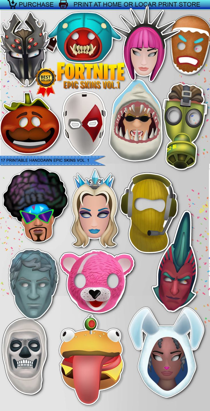 photograph about Fortnite Printable called Vol.1 Printable Fortnite EPIC SKINS booth props 17 Desktops