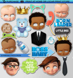 photo relating to Boss Baby Printable identified as Manager Kid Print Get together