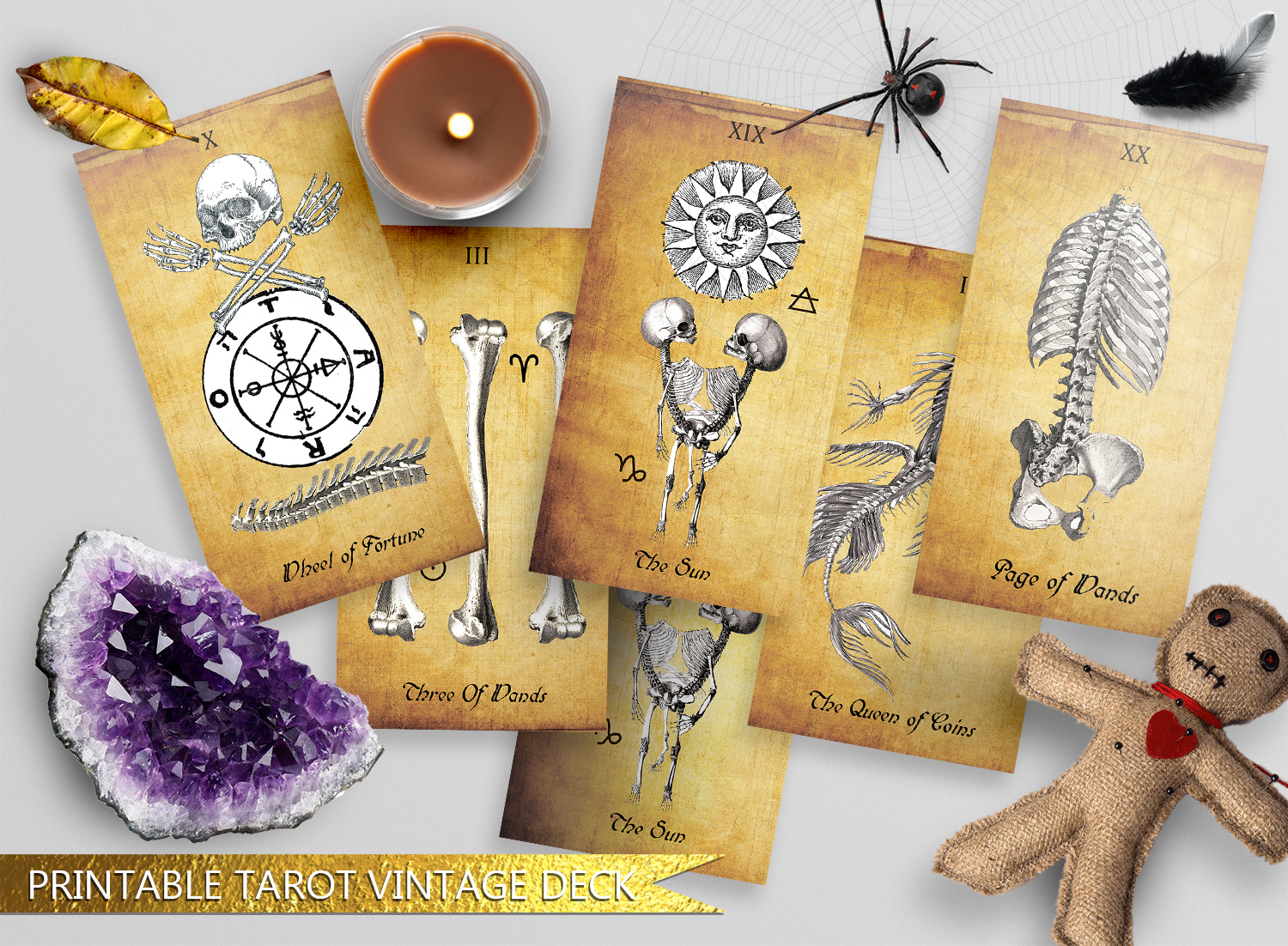 Printable Antique Vintage Tarot Deck by Natali Marly