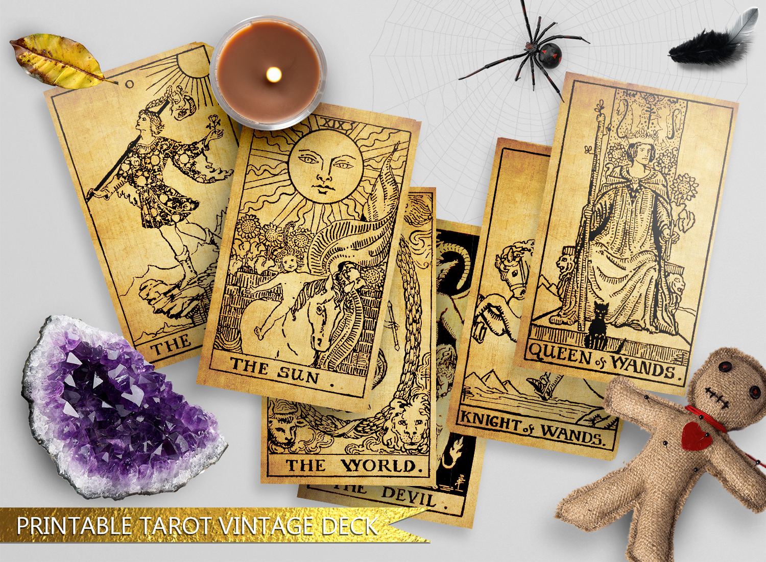 graphic relating to Printable Tarot Cards identify Printable Traditional The Rider Tarot Deck 1980s A.E Waite Uncommon Sepia or Black and White