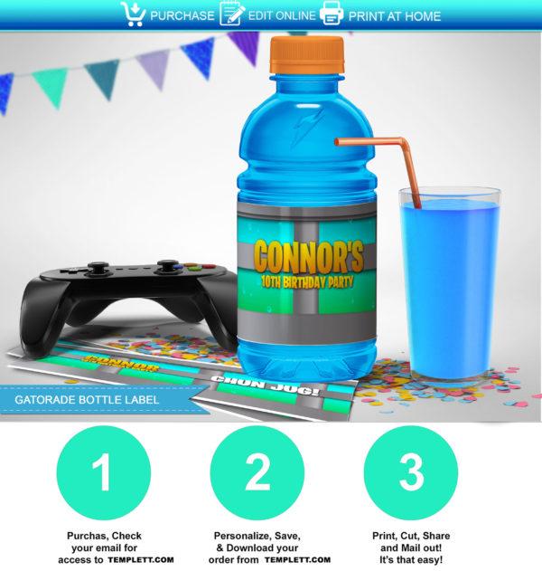 picture regarding Chug Jug Printable called Fortnite Chug Jug Printable Labels template